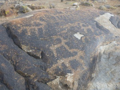 These rock carvings are petroglyphs