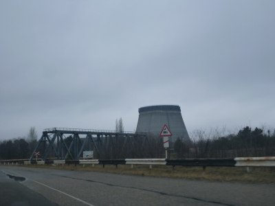 Driving past the Nuclear Power Stations of Chernobyl