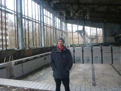 Backpacking in Pripyat: Swimming Pool Azure