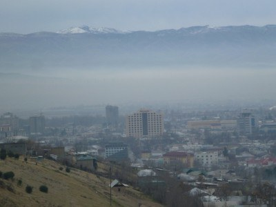 View of Dushanbe from Victory Park