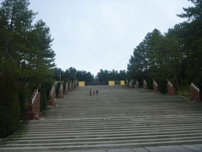 The steps up to Victory Park in Dushanbe, Tajikistan
