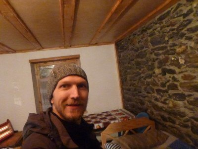 I made it alive! My room in Pamir Lodge