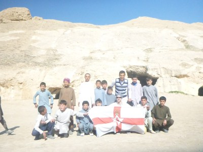 Our football squad in Afghanistan