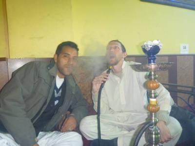 Smoking shisha in Afghanistan
