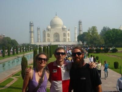 With Terri and Joel at the Taj Mahal