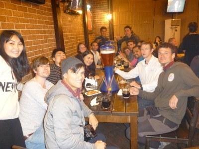Happy times at the inaugural Bishkek Pub Crawl