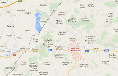 Poland Ukraine border at Mostyska