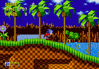 Sonic the Hedgehog on a backpacking mission to invade the DKC