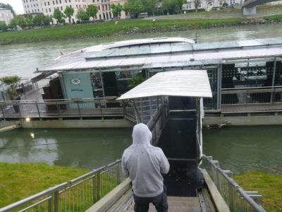 Boat cruise on the Salzach