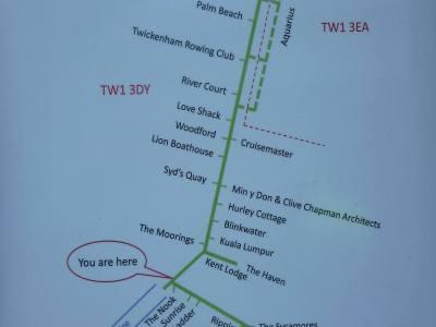A plan of Eel Pie Island
