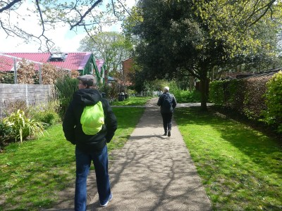 Millwall Neil backpacking on Eel Pie Island