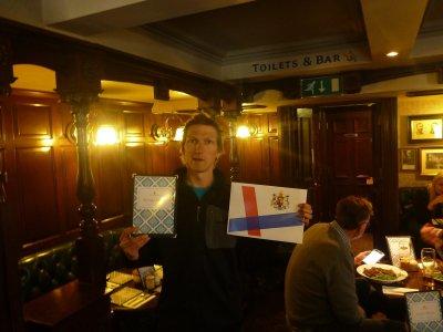 Jonny Blair in St. Stephen's Tavern, Westminster.