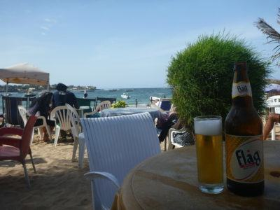 My view from Black and White Bar, N'Gor Beach