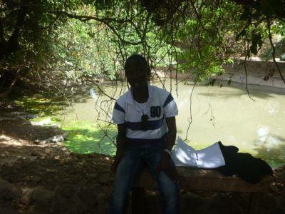Moses Bajo - crocodile expert, The Gambia