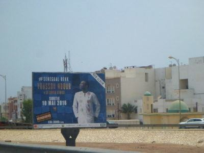 An advert for a Youssou N'Dour gig