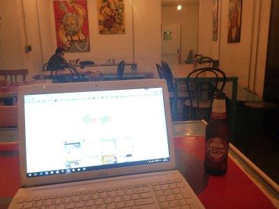 Blogging in Madama Hostel