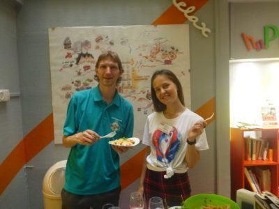 Alina and I on pasta night