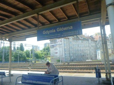 Arrival at Gdynia train station