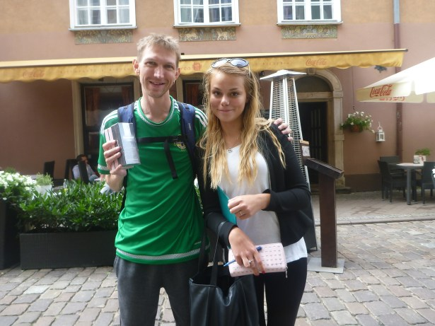 The day I won a free Aftershave from a PR girl in Gdańsk.
