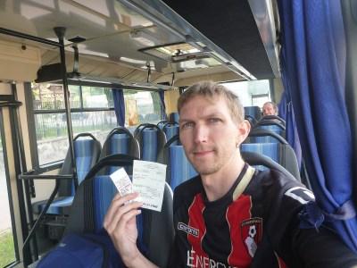 The wrong bus to Tczew - goes to Pruszcz Gdański