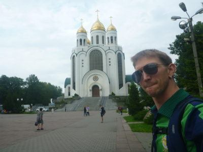 Backpacking in Kaliningrad - Cathedral of Christ the Saviour.