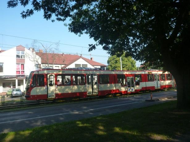 The tram in Gdańsk