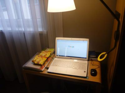 Blogging from my room at the Ibis Hotel, Gdansk.