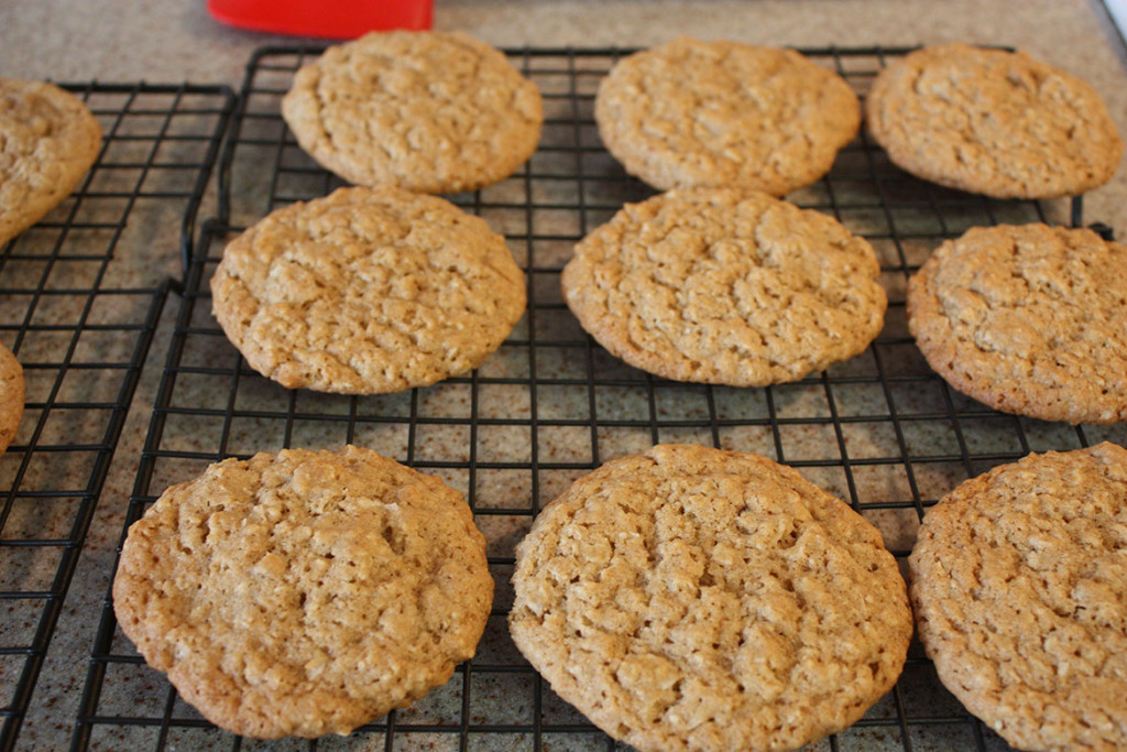 Iced Oatmeal Cookies - Bring back memories of your childhood with iced oatmeal cookies. Crispy edges, soft, chewy inside!