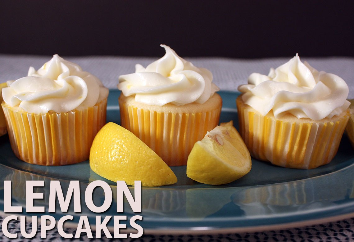 Lemon Cupcakes - Perfectly sweet, tangy and moist cupcakes! Spring dessert at it's best!