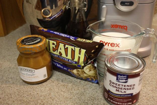 no churn salted caramel toffee bit ice cream