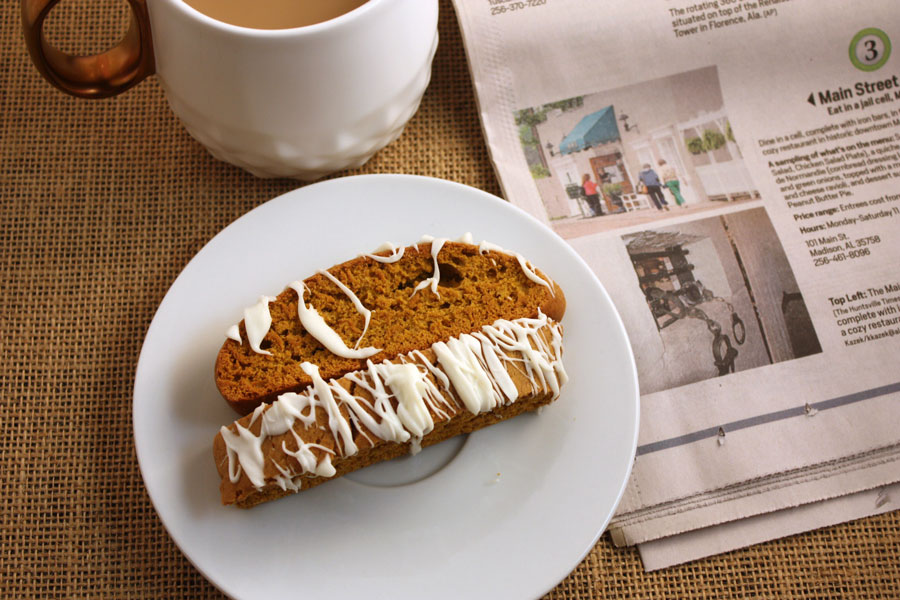Pumpkin Spice Latte Biscotti - This biscotti has a wonderful pumpkin spice with a little kick - by Don't Sweat The Recipe