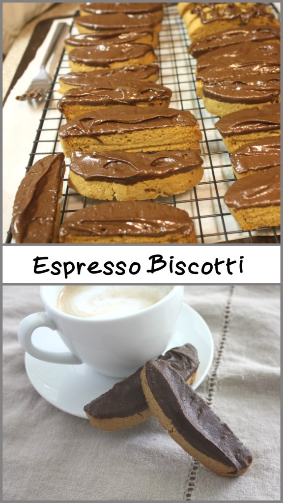 Espresso Biscotti - Espresso, dark chocolate dipped biscotti! Need I say more? by Don't Sweat The Recipe