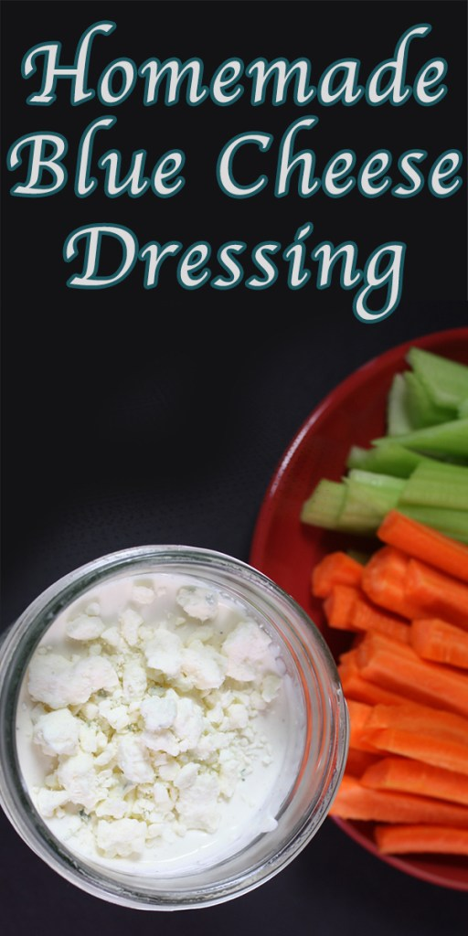 Blue Cheese Dressing - Creamy, tangy and chunky blue cheese dressing in just 5 minutes! You will never purchase pre-made dressing again.