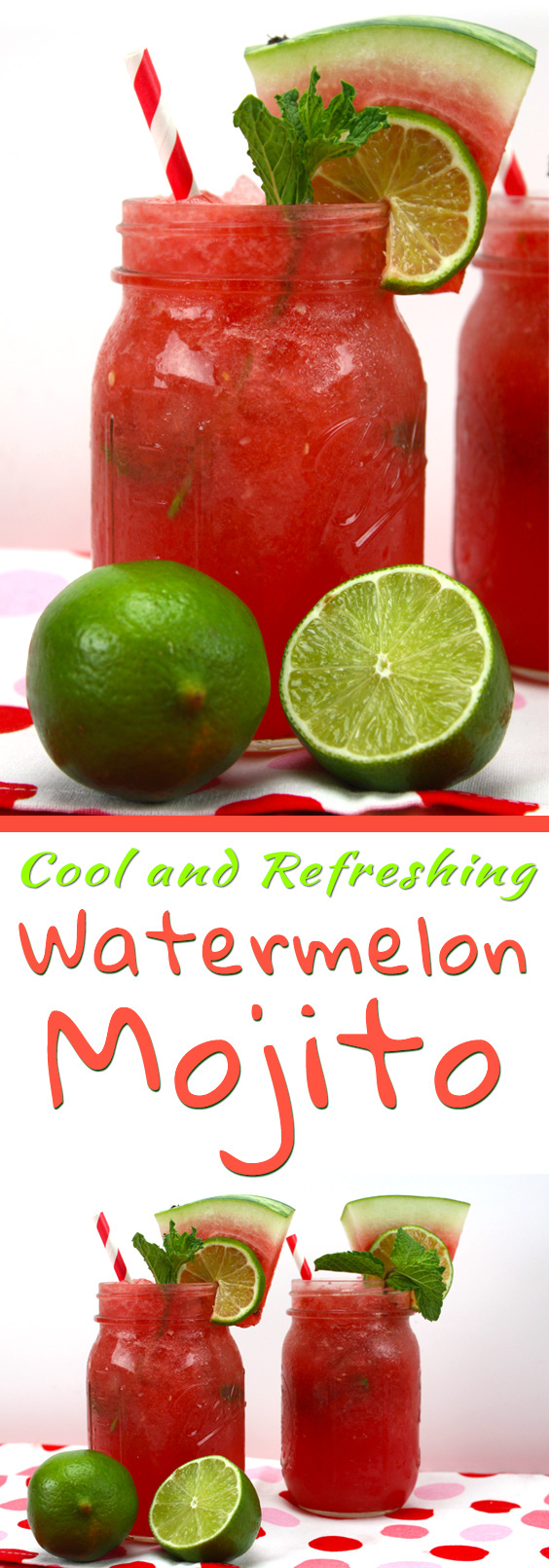 Watermelon Mojito - A light, refreshing cocktail to beat the summer heat!
