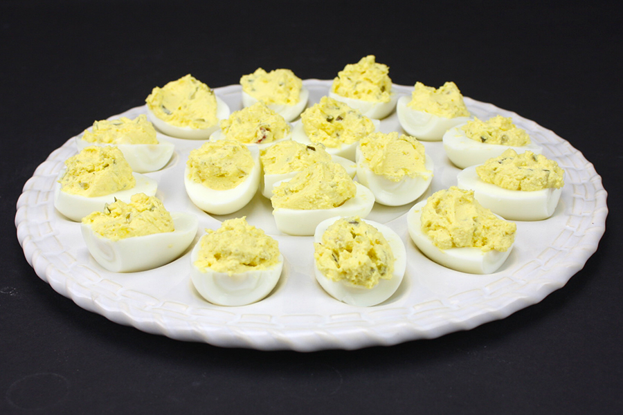 Deviled Eggs - 3 Ingredient deviled eggs. This is our favorite deviled egg recipe, it's always requested!