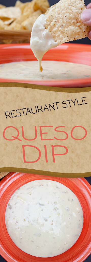 Restaurant Style Queso Dip - Make your favorite Mexican restaurant dip at home. This stuff is SO GOOD!