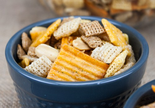 Spicy Cheddar Snack Mix - This mix is the perfect blend of spice and cheddar!