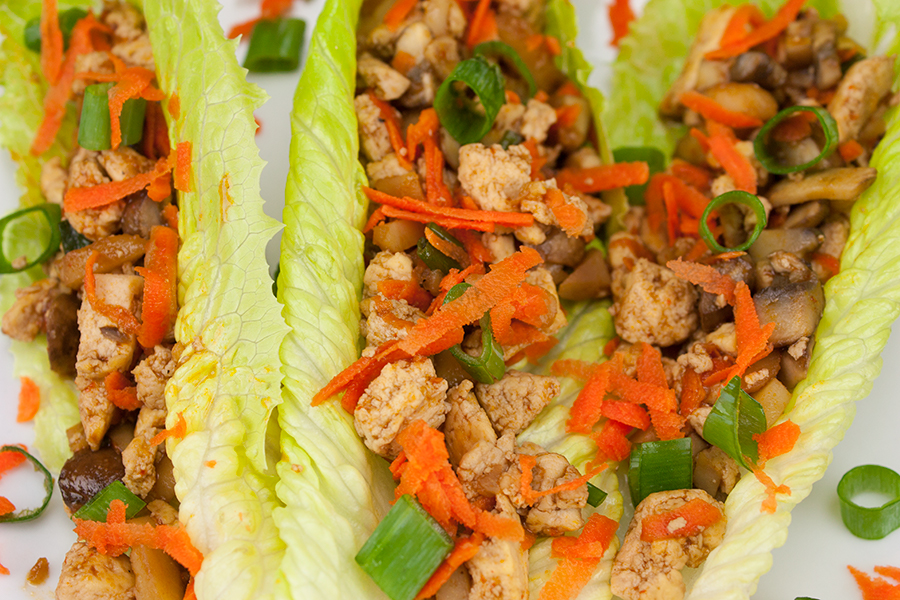 Vegetarian Lettuce Wraps - These wraps taste just like PF Changs! So fresh, easy and healthy!