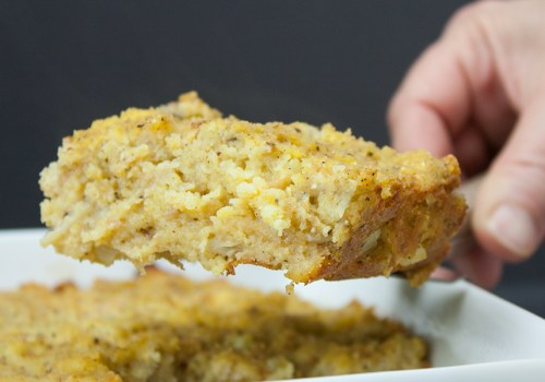 Southern Cornbread Dressing - Perfect for the holiday dinner table. Moist and tender inside with a crispy, crunchy outside.