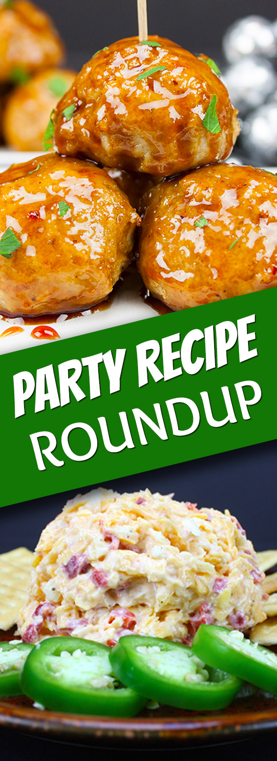Party Recipe Roundup - Great recipes for parties and game day events!