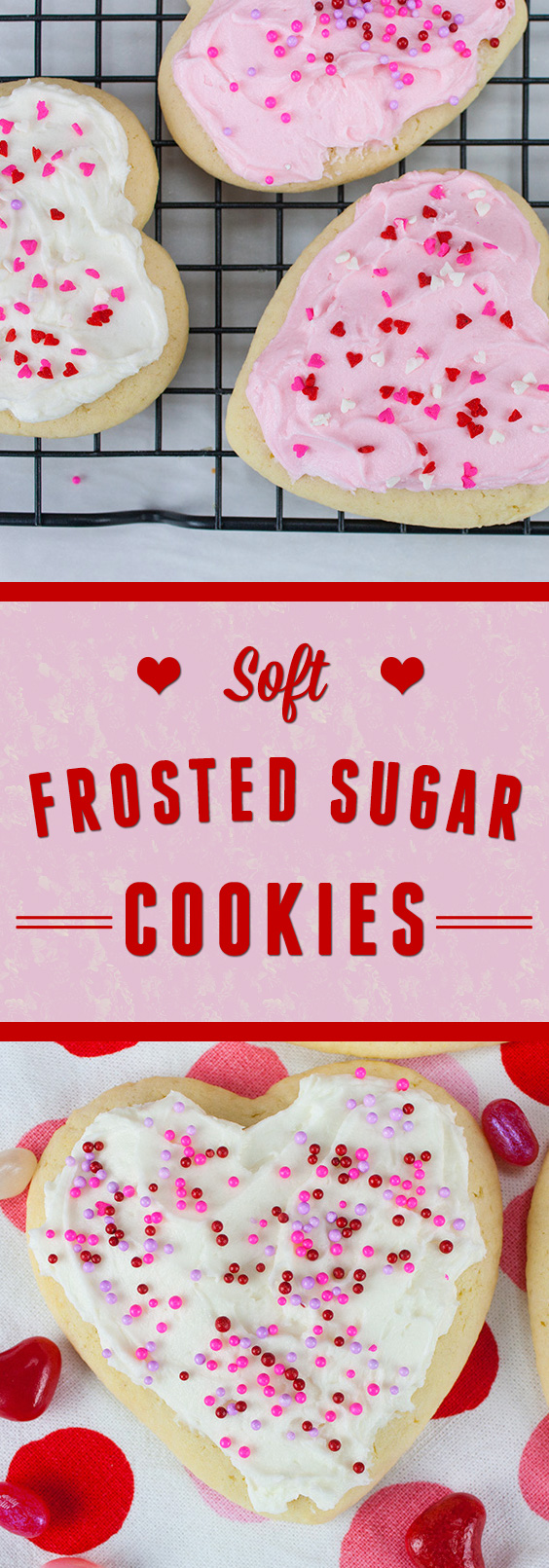 Soft Frosted Sugar Cookies - Pillowy soft sugar cookies loaded with perfectly sweet frosting!