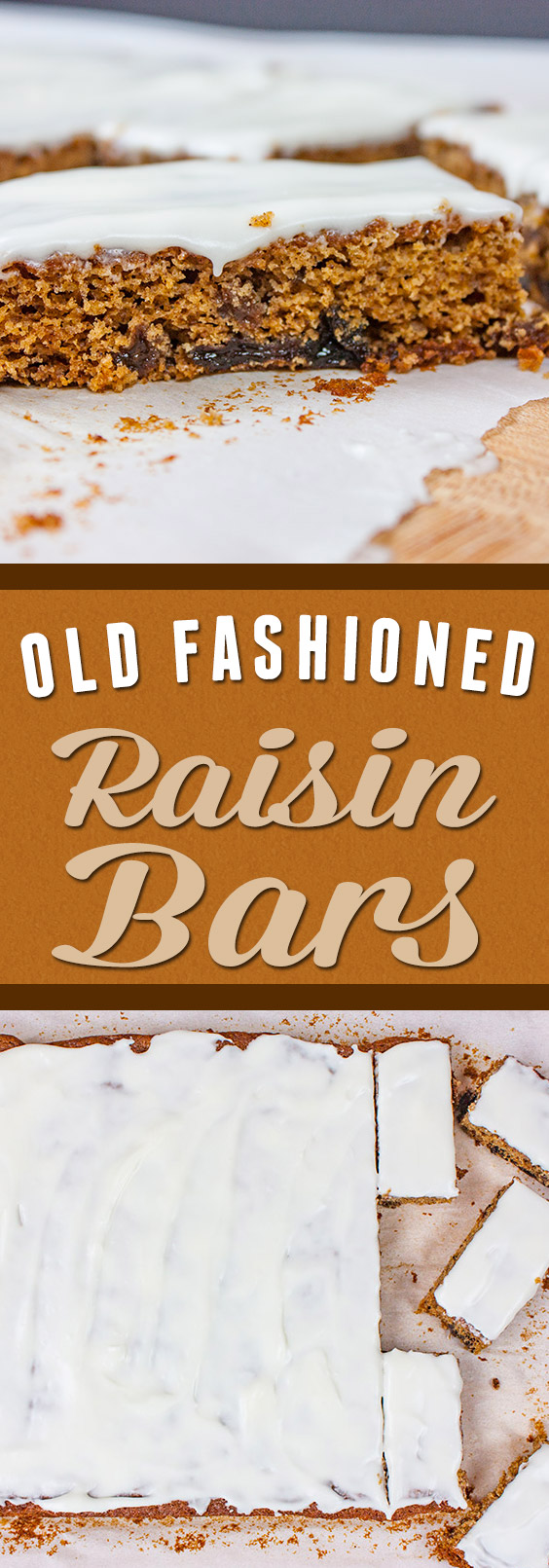 Old fashioned Raisin Bars - Let these moist, flavorful bites take you back in time!