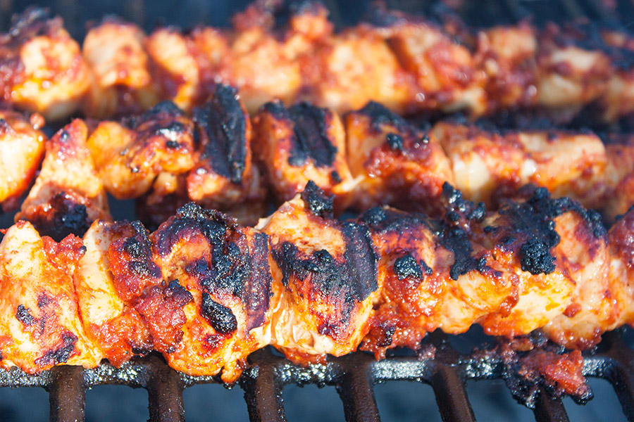 Bacon Paste BBQ Chicken Kebabs - These are not your average barbecue chicken kebabs. This is a bacon lover's dream come true!