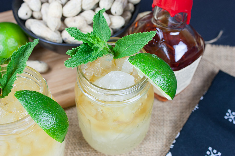 Kentucky Mule in mason jar garnished with mint and lime wedge