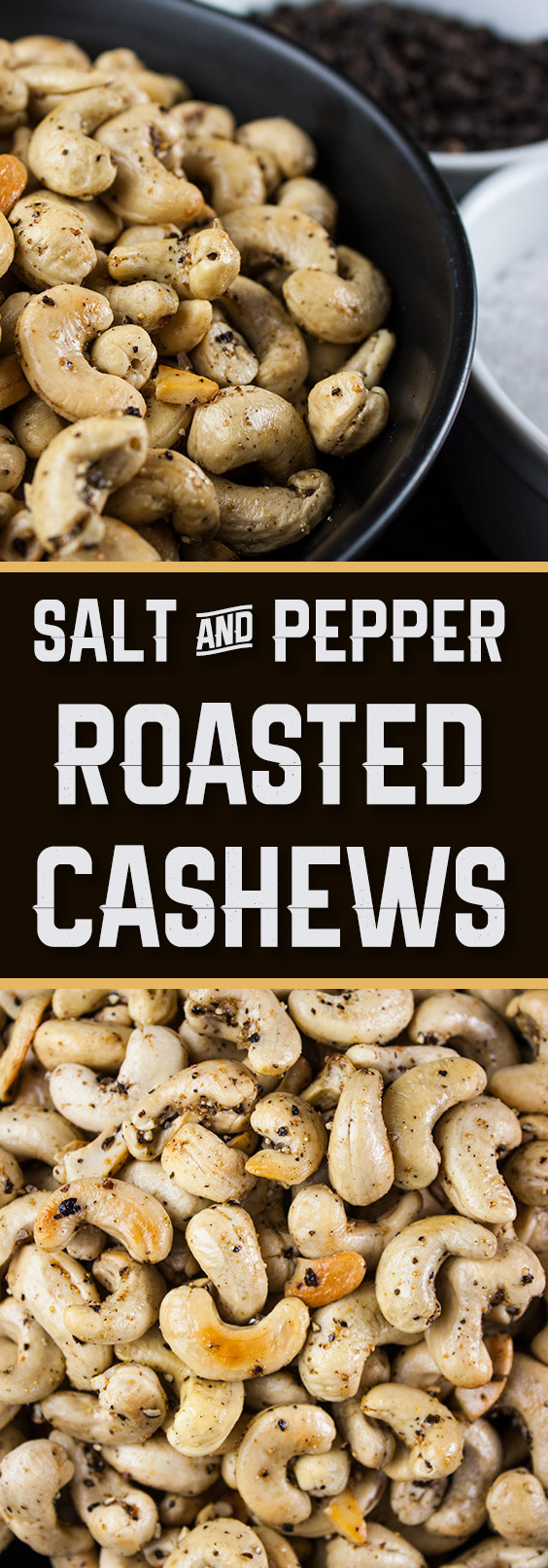 Salt and Pepper Roasted Cashews - Tantalize your taste buds with these spicy roasted cashews! So simple you will kick yourself for not trying this recipe sooner.