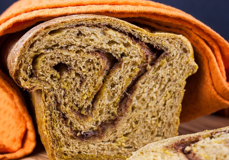 Pumpkin Cinnamon Swirl Bread - Love this bread warm from the oven, toasted slathered with butter and french toast for breakfast!