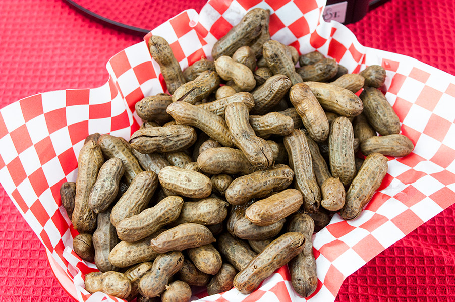 Slow Cooker Boiled Peanuts - A slow cooker makes boiled peanuts super easy to make! A warm, salty, tender boiled peanut is the perfect snack for any occasion!