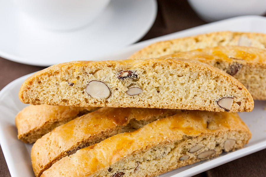 Almond Biscotti - Wonderfully crispy, crunchy, and loaded with almonds! A perfect treat for morning or afternoon coffee or tea.