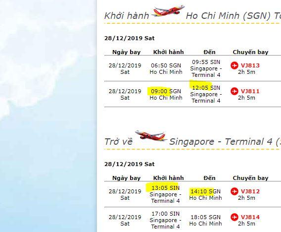 lịch trình Singapore - Malaysia