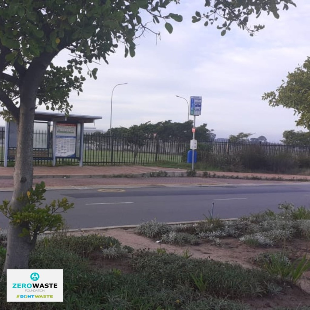 Clean up around the bus stop at Garden Route Mall